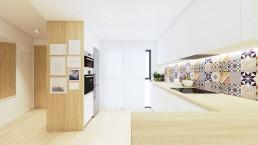 Visualización 3D - Reforma Córdoba - Cocina
