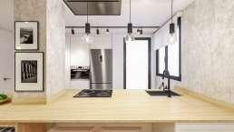 Metroeuropa Sevilla. Interiorismo Infografía 3D Cocina contemporánea